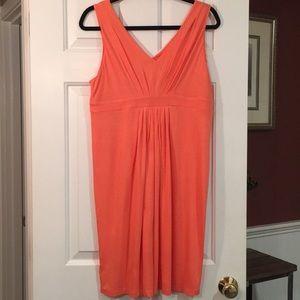 New LOFT sleeveless double V dress